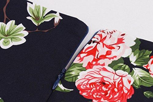 Design 1950s Dress Fit Floral Party Audrey Hepburn Dresses Vintage Color11 Women's Line A Style AE77dq