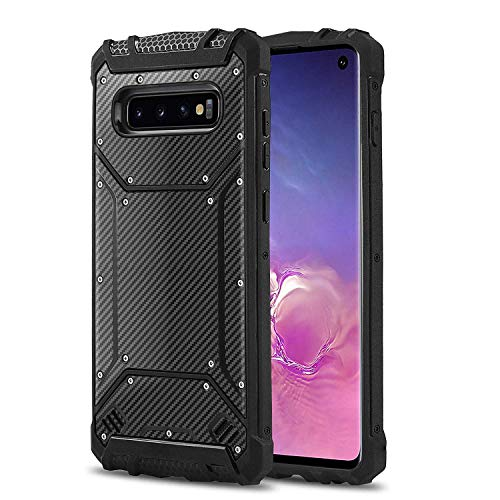 for Phone Case for [Samsung Galaxy S10 Plus (6.4 inch)], [Alloy Series][Blue] Aluminium [Metal Plate][Military Grade] Shockproof [Impact Resistant] Cover for Samsung Galaxy S10 Plus (6.4 inch)