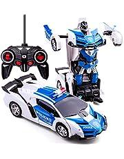 Transformers Toys 2-in-1 transformator, auto, RC auto, voor kinderen, vervorming, robot, speelgoed voor jongens van 3-12, RC voertuig, speelgoed, afstandsbediening, auto, voor jongens van 3-5 jaar