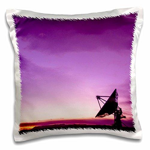 nt - Astromony - Purple twilight over Radio telescope, Socorro, New Mexico, USA - 16x16 inch Pillow Case (pc_259760_1) (Socorro Throw)