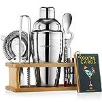 Mixology-Bartender-Kit-with-Stand-Bar-Set-Cocktail-Shaker-Set-for-Drink-Mixing-Bar-Tools-Martini-Shaker-Jigger-Strainer-Bar-Mixer-Spoon-Tongs-Bottle-Opener-Best-Bartender-Kit-for-Beginners