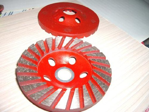 4 Piece: 4.5'' Diamond Super Thick Segment Turbo Grinding Cup Wheel