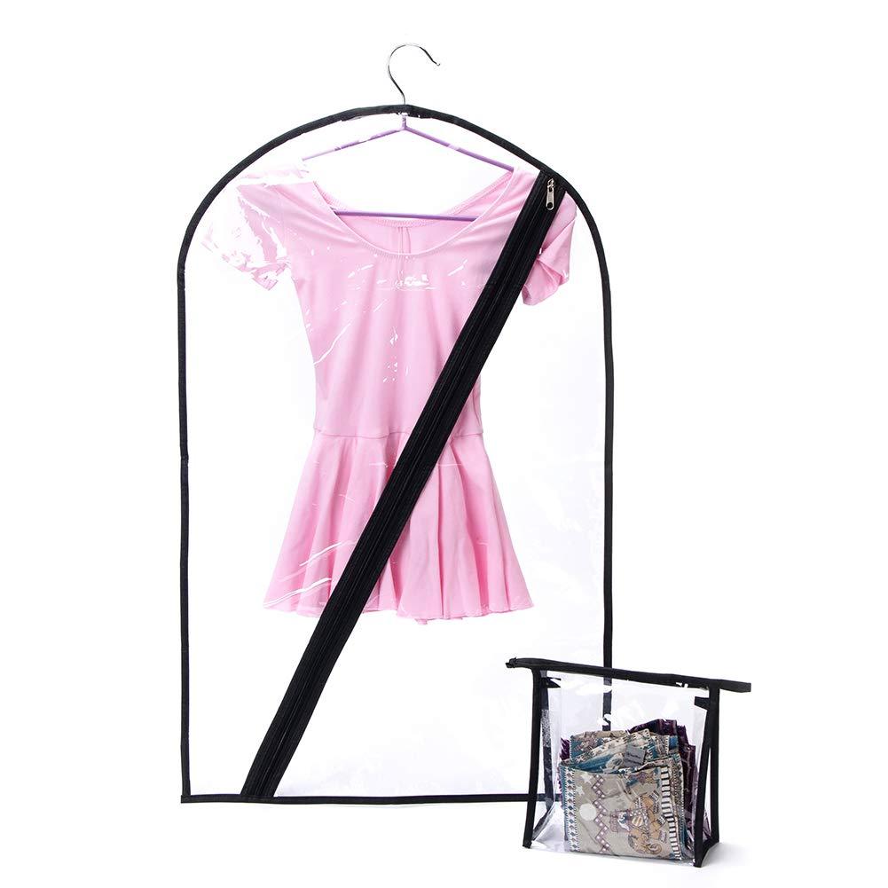 2 Pezzi Borsa per Costumi per Bambini da Appendere per Gare di Danza QEES Borsone per Costumi da Danza per Bambini Include Mini Borsa Trasparente