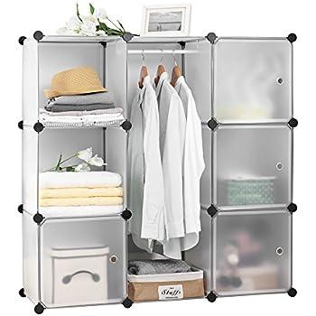 Finnhomy DIY 9 Cube Organizer Storage Cabinet Bookcase Storage Organizer  Shoes Storage Modular Storage Cabinet Wardrobe
