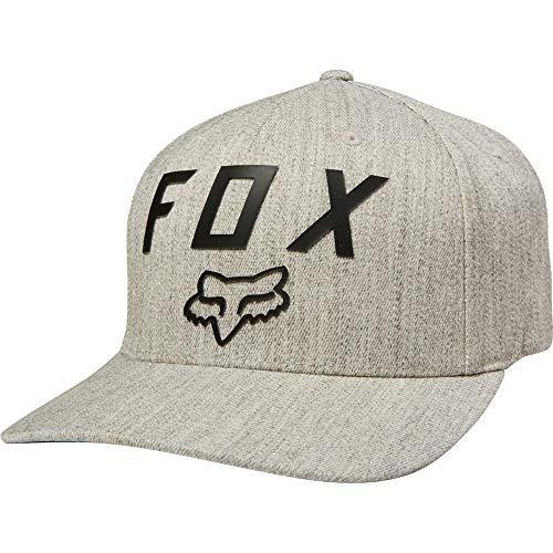 Fox Men's Number 2 Flexfit HAT, Light Heather Grey, S/M
