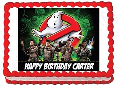 Amazing Amazon Com Ghostbusters Edible Party Cake Topper Decoration Funny Birthday Cards Online Alyptdamsfinfo