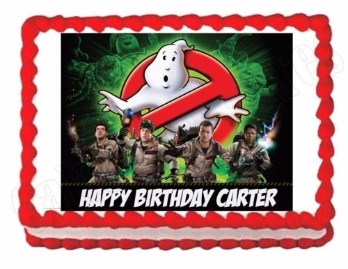 Ghostbusters edible party cake topper decoration frosting sheet image]()