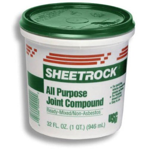 Lightweight Joint Compound - U S GYPSUM 380270072 U S Gypsum 380270 Quart Ready-To-Use Joint Compound, Off-White, 1.75 pt