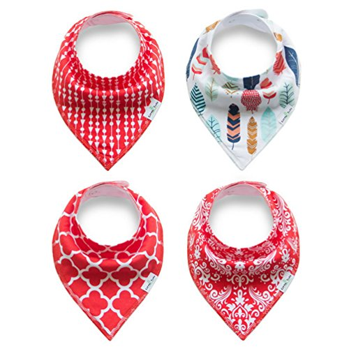 Puppy Bandana Bibs Double Cotton Triangle Scarfs Head Scarfs Accessories for Pet Pack of 4 ()