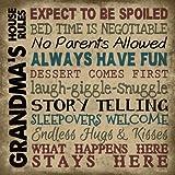 Rustic Primitive Wood Sign - Grandma's Rules