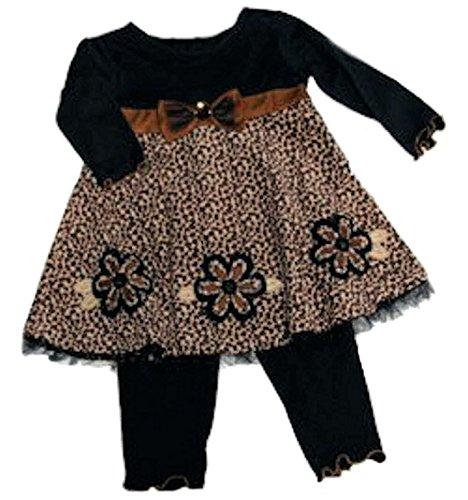 Good Lad Baby Girls' Dress With Legging Set, Tan, 18 Months