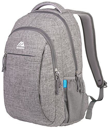Mozone Casual Lightweight Water Resistant College School Laptop Backpack Travel Bag (Grey)