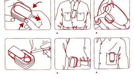 Cig-U Fermeture coulissante en forme de ruban Cendrier Portable Rouge Accessoires de sac à main