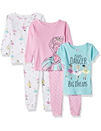 Baby-Girl 5-Piece Cotton Snug-Fit Pajamas