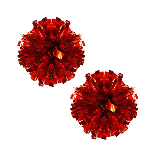 Metallic Lot Poms 100g De 2 Anneau Rouge Pom Cheerleading Plastique 7qpvY4qw