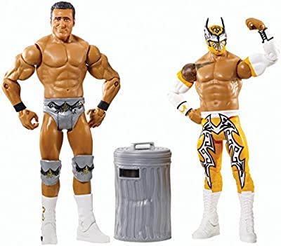 WWE Battle Pack Series #31 - Sin Cara vs. Alberto Del Rio with Trash Can Figure Two-Pack | Computers And Accessories