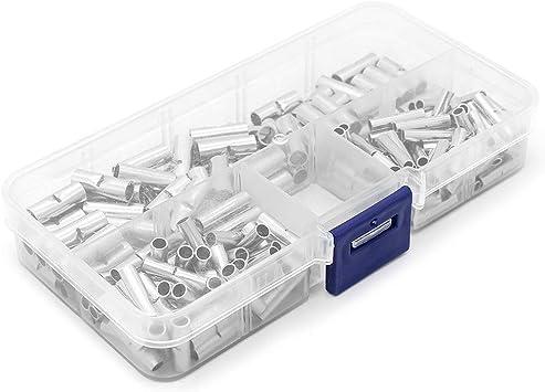Yuhtech 200 Pcs 22-10AWG Caja de terminales de presión de cobre, manguitos de empalme para cable: Amazon.es: Bricolaje y herramientas