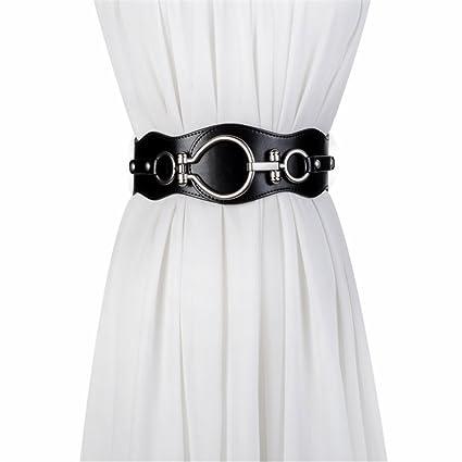 NSSBZZ La Mujer cinto de Cuero Dama Correa Ancha decoración Vestir Correa  elástica de la Moda 55b01fe7ba65