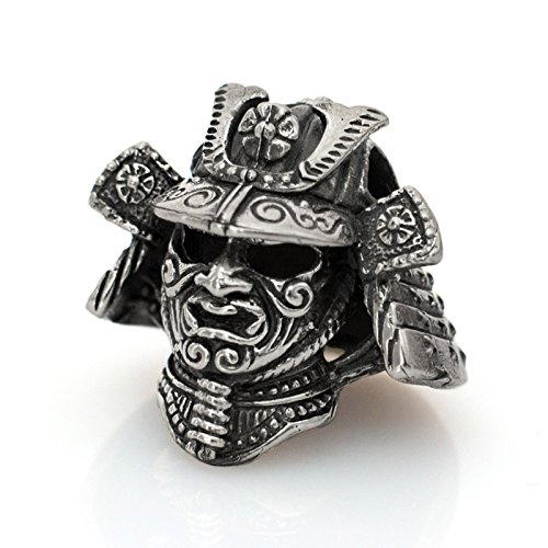 Paracord Bead Samurai Helmet - Metal DIY Paracord Beads Charms EDC Accessories for Custom Bracelet Knife Lanyard Zipper Pull - Handmade Paracord Supplies Crafts from Unique Handmade Arts & Crafts