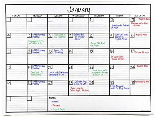 - OfficeAid Laminated Jumbo Dry Erase Wall Calendar, 36-Inch by 48-Inch