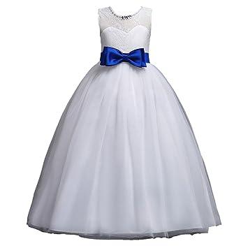 Mädchen Blumenmädchenkleid Kinder Tüll Prinzessin Kleid Weihnachten ...