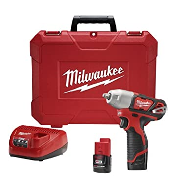 Milwaukee 2463-22 M12 Cordless Impact Wrench, 12 V
