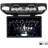 OUKU Black 15.6 Car Roof Mount Overhead DVD CD Player Monitor Games IR FM USB New