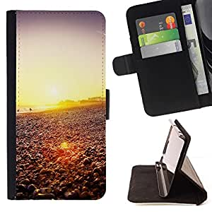 DEVIL CASE - FOR Samsung Galaxy S3 III I9300 - Happy Hipster Beach Sunset - Style PU Leather Case Wallet Flip Stand Flap Closure Cover