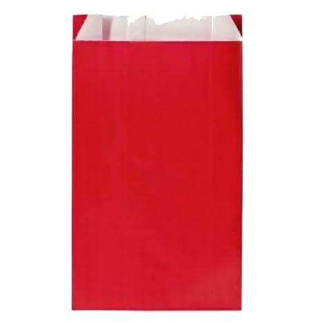 10 grandes fundas, bolsas regalo Kraft rojo 24 x 7.5 x 40 cm ...
