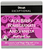 Dilmah Exceptional Leaf  Acai Berry With Pomegranate & Vanilla, 20 Tea bags, 1.41 Ounce Box Review