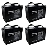 UB62000 6V 200Ah Group 27 Battery for Danen UB200-6E Electric Pallet Jack - 4 Pack