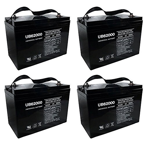 UB62000 6V 200Ah Battery for M83CHP06V27 RA6-200 PS-62000 Pallet Jack Battery - 4 Pack by Universal Power Group