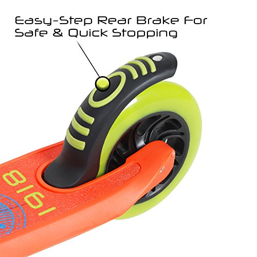 Flybar Aero 2-Wheel Kick Scooter For Kids With Grip Tape Deck, ABEC 5 Bearings, 125mm Light Up Wheels & Adjustable Handlebars - Holds Weights Up To 175 Lbs by Flybar (Image #5)