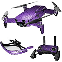 MightySkins Skin for DJI Mavic Air Drone - Purple Diamond Plate | Max Combo Protective, Durable, and Unique Vinyl Decal wrap cover | Easy To Apply, Remove, and Change Styles | Made in the USA