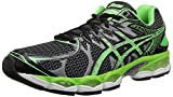 ASICS Men's Gel-Nimbus 16 Lite-Show Running Shoe,Black/Apple Green/Silver,14 M US