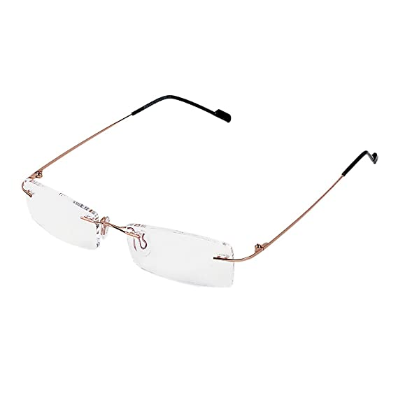 779d77bcccd Royal Son Rimless Rectangular Spectacle Frame For Men And Women  (WHAT0815