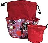 10 Pocket I Love Bingo Red Drawstring Bingo Bag