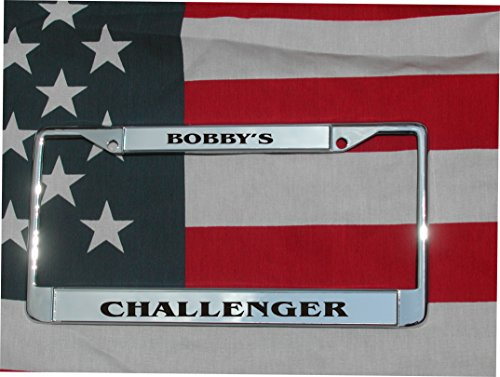 CHROME Personalized Laser Engraved License Plate Frame W/FREE SCREW - Custom Motorcycle Engraving