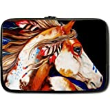 High Quality Spirit Indian War Horse The Gift Water Resistant Neoprene Laptop Sleeve 15 Inch Notebook Computer Bag Case Cover(Twin Sides)