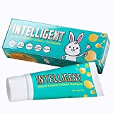 【Safe To Swallow & Remove Plaque Better】 INTELLIGENT Natural Saliva-Enzymes Kids Toothpaste, 1.37 Ounce, 2 Count (Integrated fruit (a little Mint))