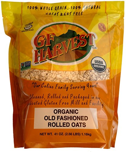 (GF Harvest Gluten Free Certified Organic Rolled Oats, Non GMO, 41oz Bag)