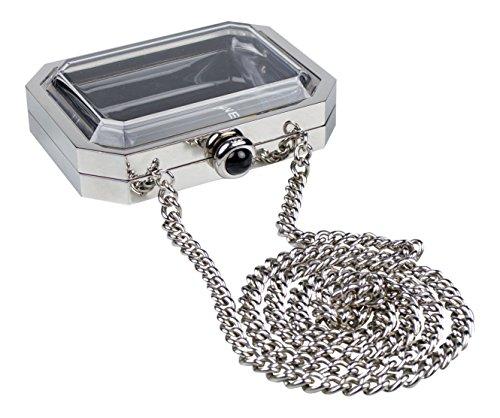 Chanel Black/Silver Chanel Premiere Watch Minaudie Bag Silver