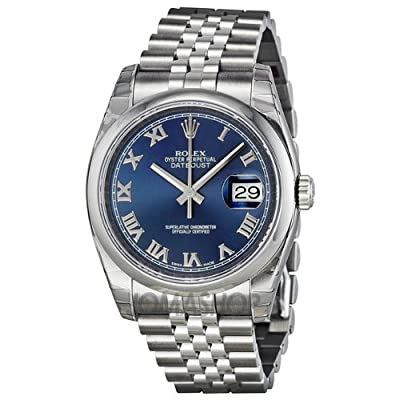 Rolex Datejust Blue Dial Stainless Steel Jubilee Bracelet Mens Watch 116200BLRJ