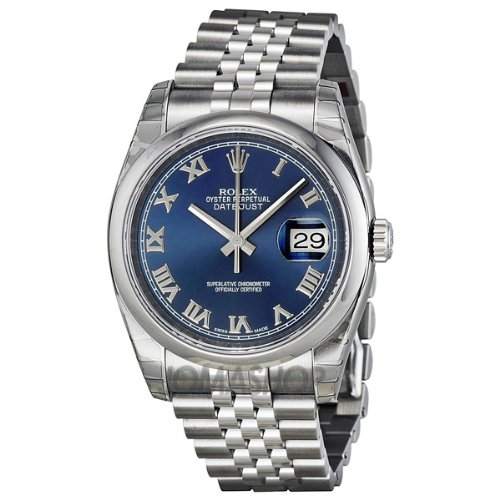 Datejust Dial - Rolex Datejust Blue Dial Stainless Steel Jubilee Bracelet Mens Watch 116200BLRJ