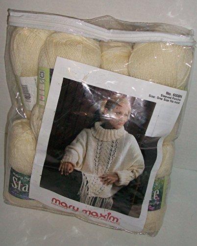 Sleeved Poncho Knitting Craft Kit Mary Maxim by Mary Maxim