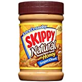Skippy Natural Super Chunk Peanut Butter Spread, 15 Ounce