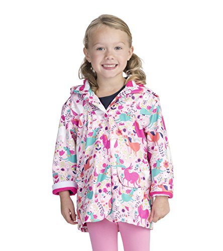 Hatley Little Girls' Printed Raincoats, Roaming Horses, 2 (Shoes Kids Puddle Jumpers)