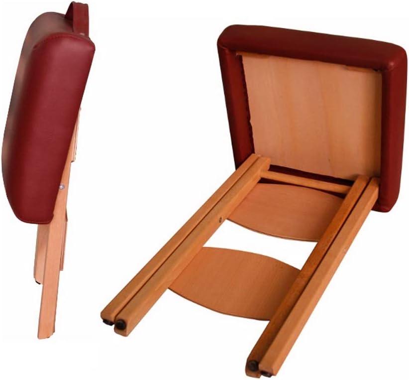 Folding Solid Wood Bath Stool Bathroom Portable Leather Stool Change Shoe Bench