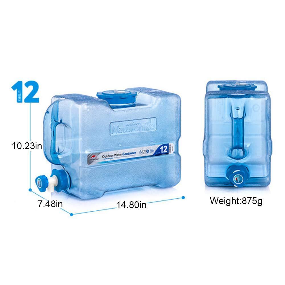 BPA-frei Kunststoff Auto Wassertank Camping Outdoor BBQ und Lange Reise etc,12L 19L Tragbarer Wasserkanister mit festmontiertem Ablasshahn//Wasserauslauf
