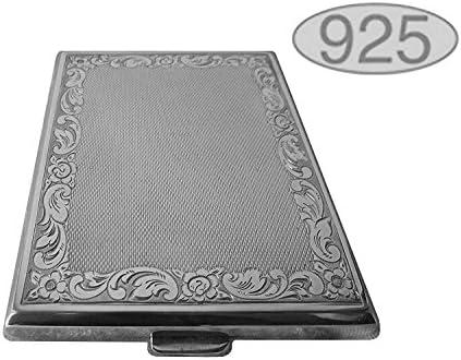 Zigarettenetui Visitenkartenetui 9 5x8 Cm Aus 925 Silber